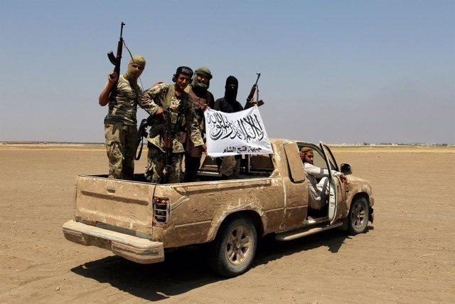 Milicianos del Frente Fatá al Sham, antiguo Frente al Nusra