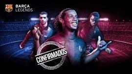 Ronaldinho volverá a jugar en el Camp Nou con los Barça Legends frente al Manchester United