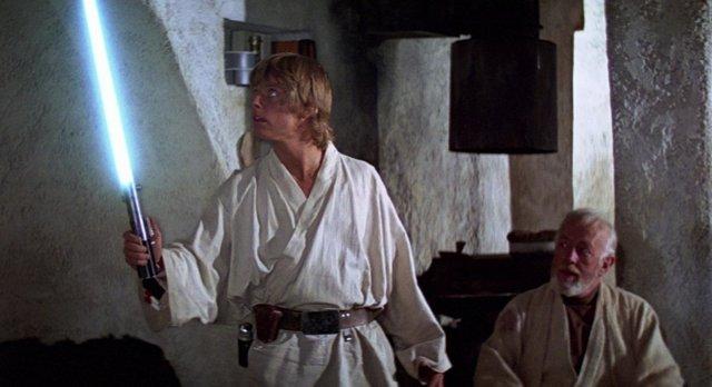 Luke Skywalker al costat d'Obi Wan Kenobi en Star Wars