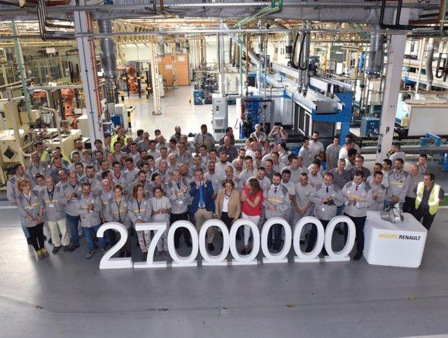 La factoría de Renault fabrica la caja de cambios 27 millones.