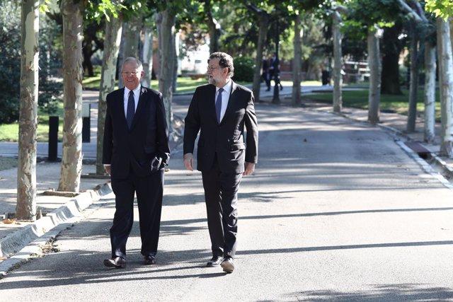 Rajoy recibe en La Moncloa al presidente de la República del Perú