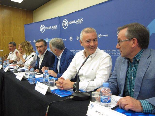 Beamonte ha presidido esta tarde el Comité Ejecutivo Regional del PP-Aragón