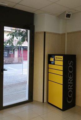Máquina CityPaq en la estación de FGC de Balaguer