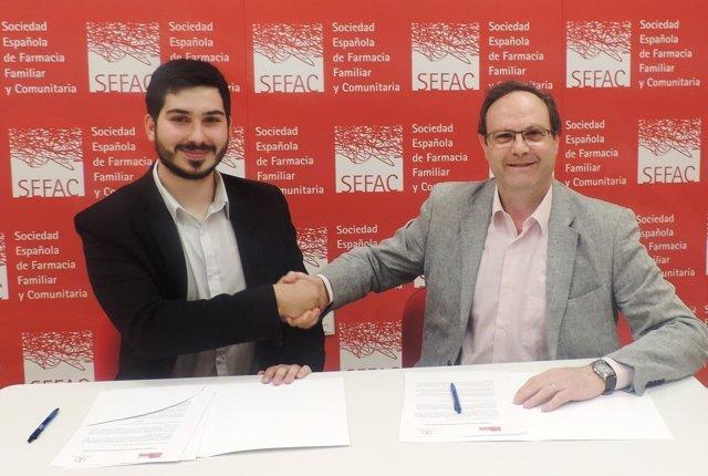 Firma del convenio entre SEFAC y FEEF