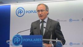 """Alonso (PP) asegura que la moción de censura contra Rajoy evidenciará el """"fracaso"""" de Podemos"""