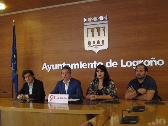 Los cuatro concejales de Ciudadanos en el Ayuntamiento de Logroño