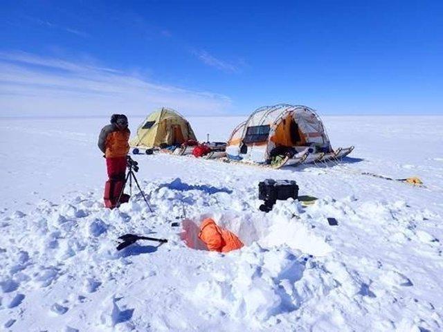 Ramón Larramendi, explorador polar, en el Ártico en junio 2017