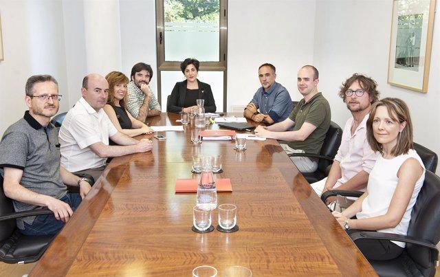 Reunión sobre el convenio para el Conservatorio de Tudela