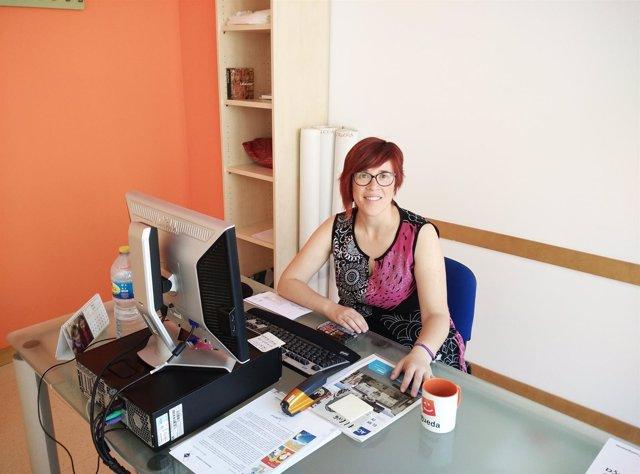 La coordinadora nacional del Bloc, Àgueda Micó, en su despacho