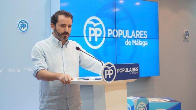 El portavoz del PP de Málaga, José Ramón Carmona.
