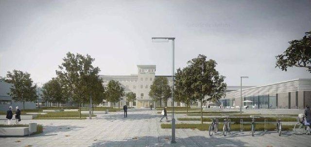 Imagen virtual de la ampliación del Hospital de Viladecans