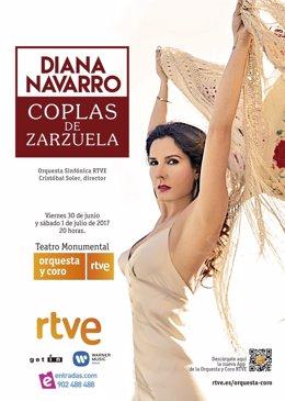Cartel concierto Diana Navarro y la Orquesta de RTVE