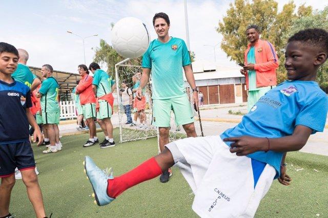 Campaña FC Barcelona y Acnur por los niños refugiados