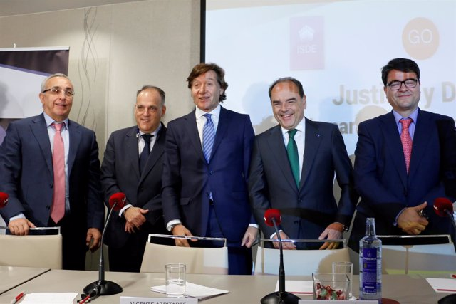 Alejandro Blanco, Javier Tebas, José Ramón Lete, Jordi Pintó Sala y Ramón Terol