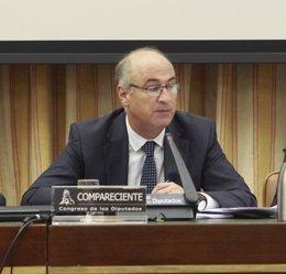 El secretario de Estado de Cultura, Fernando Benzo, en el Congreso de los Diputa