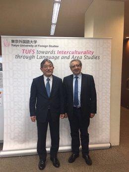 UMA en Tokio rector jose angel narváez málaga educación Hirotaka Tateishi