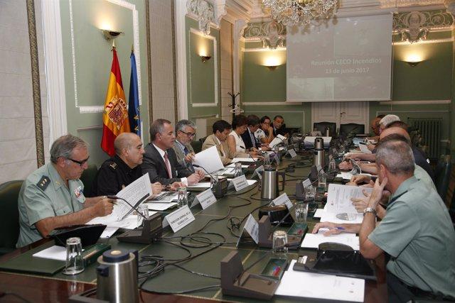 Reunión del Comité Estatal de Lucha contra los Incendios