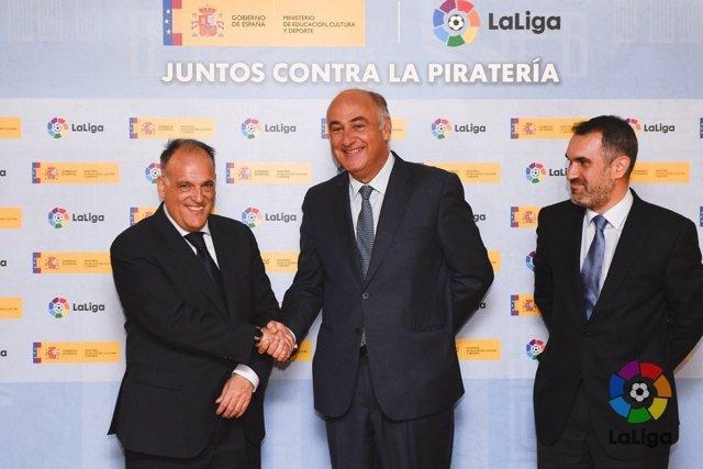 Acuerdo LaLIga y Ministerio de Cultura para una herramienta antipiratería