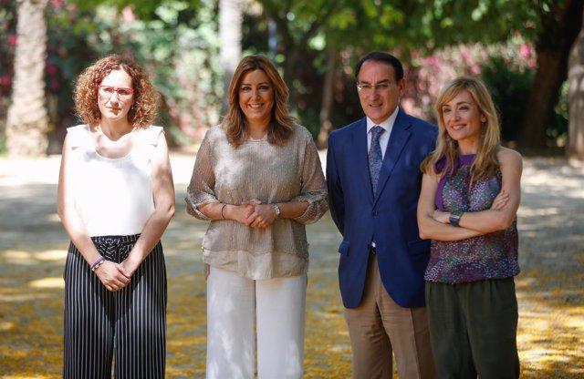 Nuria López, Susana Díaz, Javier González de Lara y Carmen Castilla.