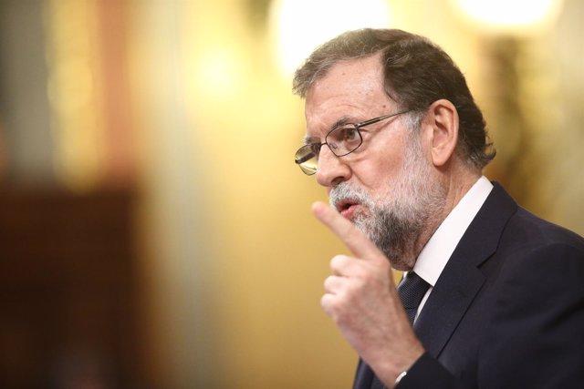 Mariano Rajoy en el debate de la moción de censura