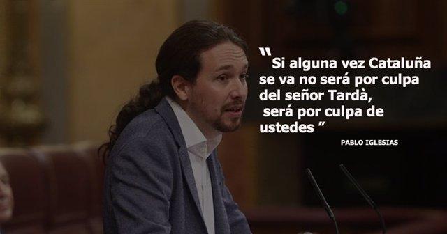 El discurso de Pablo Iglesias en la moción de censura de Podemos, en frases