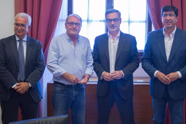 Reunión de la última comisión de seguimiento PSOE-A y Cs