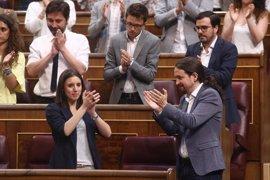 """Pablo Iglesias cree que la """"magnífica"""" intervención de Montero en la moción ha """"sorprendido"""" a Rajoy"""