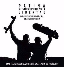 Concentración de la comunidad de 'skaters' de Cantabria por Echeverría