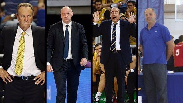 Aíto García Reneses, Pablo Laso, Txus Vidorretta y Javier Imbroda