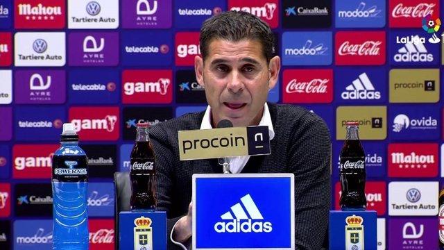 Fernando Hierro, entrenador del Real Oviedo