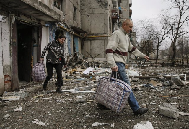 Desplazados por el conflicto del este de Ucrania