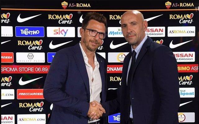 AS Roma ficha a Eusebio di Francesco. Se presenta con Monchi