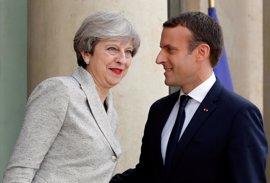 """Macron y May pactan un """"plan de acción antiterrorista"""""""