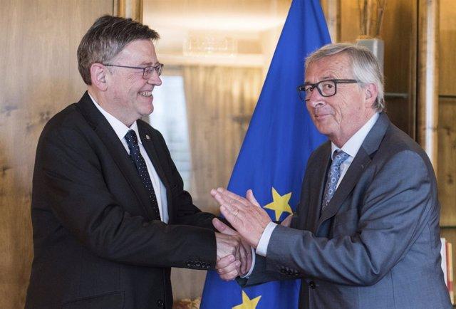 Encuentro entre Ximo Puig y Jean-Claude Juncker