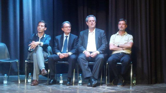 Artur Mas, Joaquim Forn, Jordi Martí y Sergi Sarri