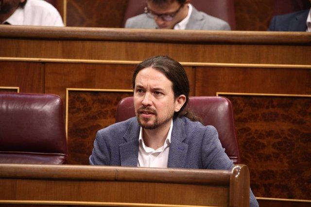 Pablo Iglesias en el debate de la moción de censura
