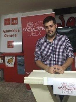 Alejandro Díaz, presidente de las juventudes socialistas de Elche