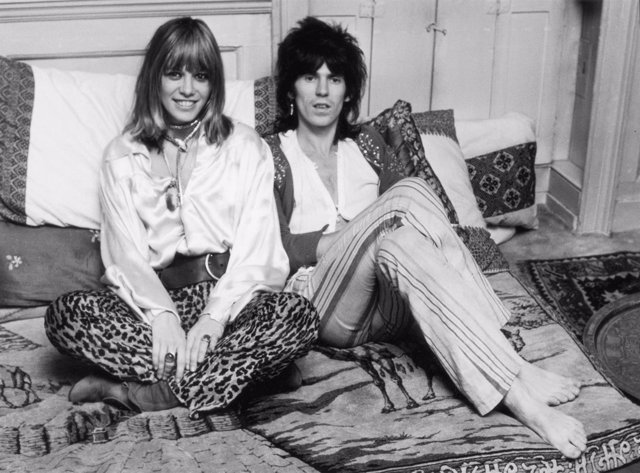 Anita Pallenberg y Keith Richard/GETTY