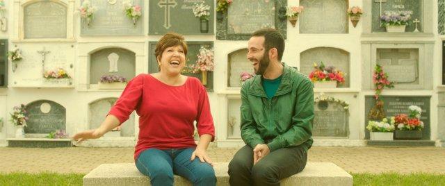 La actriz Loles León y el director de cine Javier Quintanilla