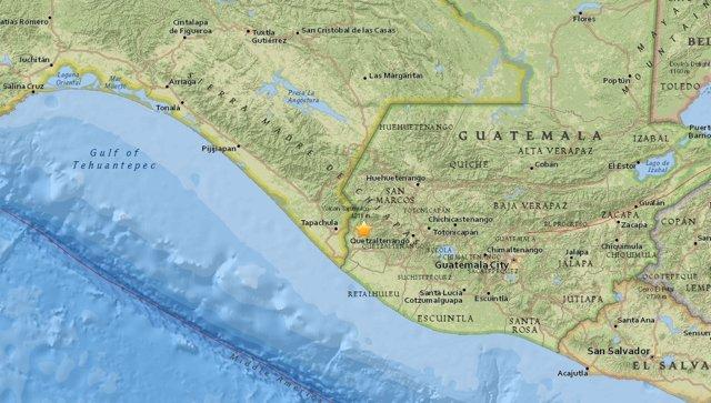 Terremoto de magnitud 7 en Guatemala, cerca de la frontera con México