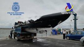 Intervenidas en la costa de Huelva 2,4 toneladas de hachís procedente de Marruecos