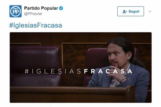 Hashtag contra Pablo Iglesias