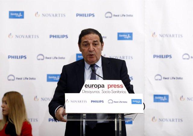 Desayuno Socio-Sanitario de Europa Press con Antonio María Sáez Aguado