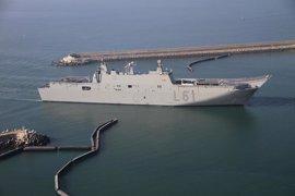 El buque anfibio portaeronaves 'Juan Carlos I' y la fragata 'Almirante Juan de Borbón' harán escala en Almería