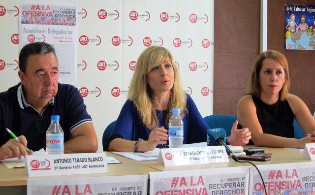 La secretaria general de UGT-A, Carmen Castilla