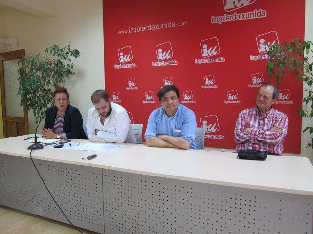 Rueda de prensa de concejales de IU-Caso en OViedo