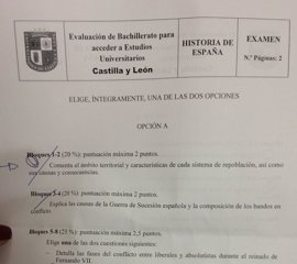 CCOO exige a Educación que asuma su error y se disculpe por el examen de Hostoria