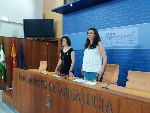 Esperanza Gómez y Libertad Benítez, en rueda de prensa