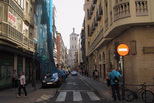 La calle Regalado de Valladolid