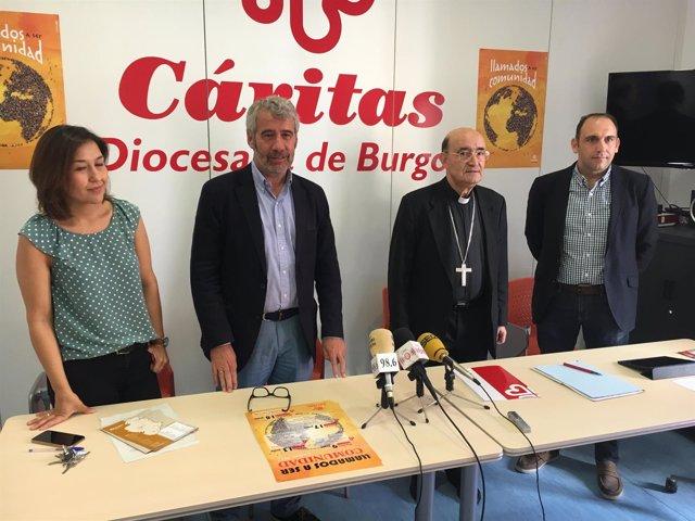 Burgos: María Gutierrez, J.Simón, el arzobispo y Dueñas